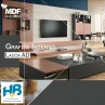 MDF Grafite Intenso Eucatex